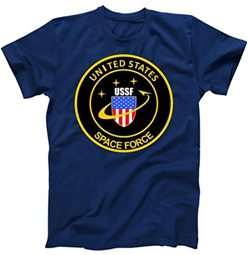 (United States Space Force USSF Classic Logo T-Shirt Navy 5XL)