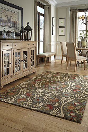 Mohawk Home Symphony Amicalola Saddle Floral Woven Area Rug, 5'3x7'10, Multicolor (Symphony Rug Collection)