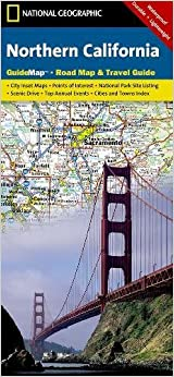 Northern California National Geographic Guide Map National - Map of northern california