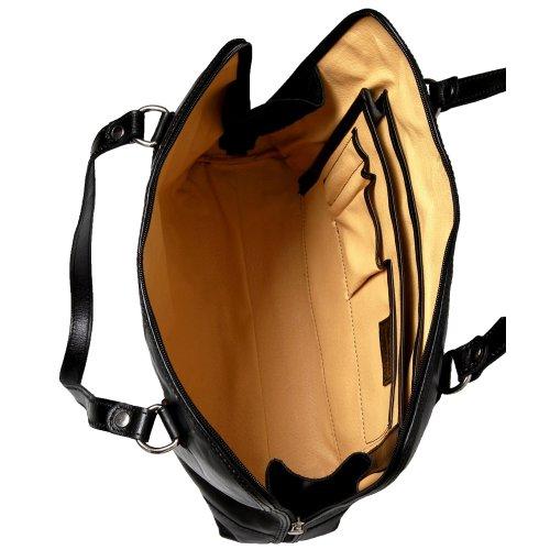 Ledershop24 Black Shoulder Cognac Women's Bag aqrgwa0