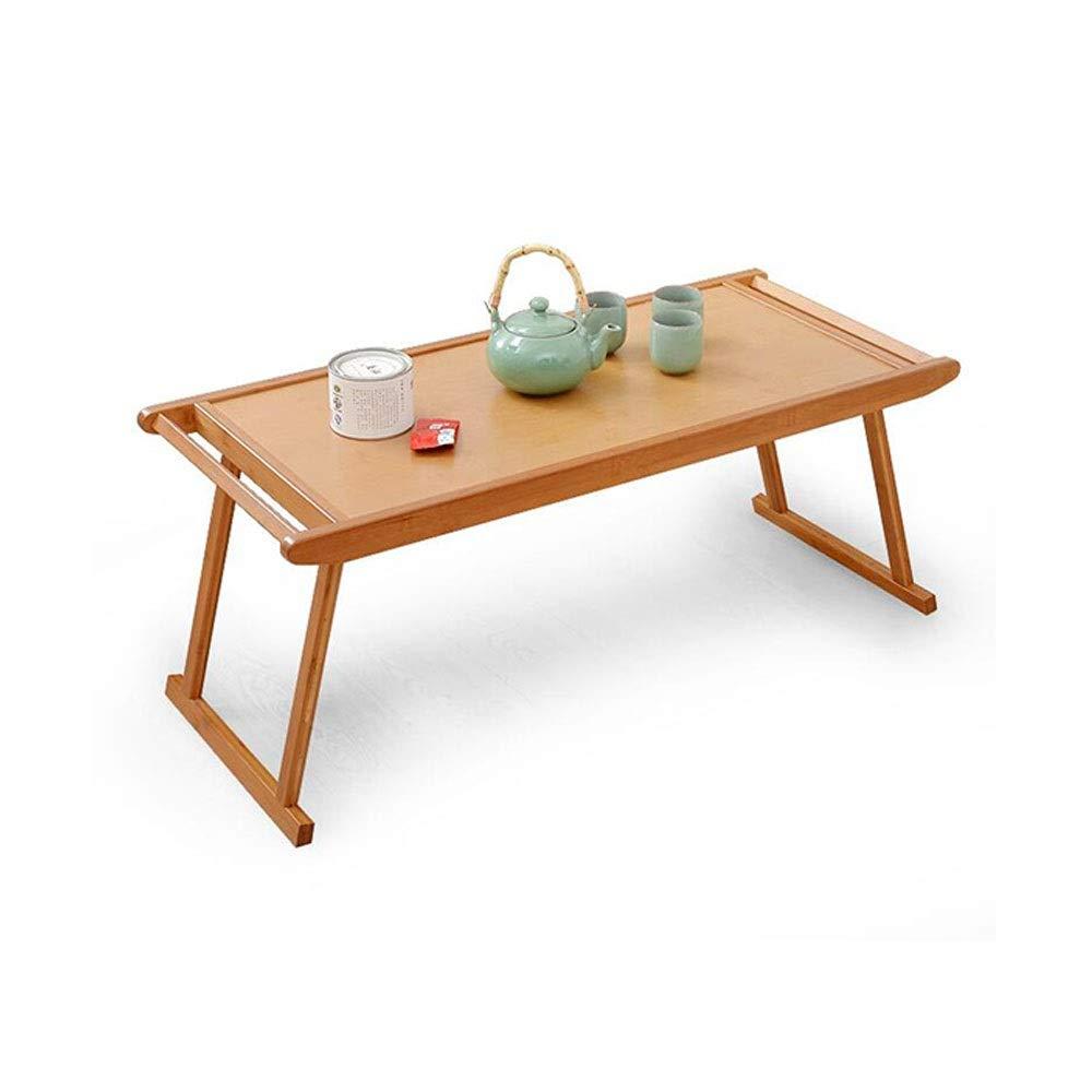 竹テーブル、シンプルなカンフーティーテーブルコーヒーテーブル折りたたみアンティークローテーブル寝室寮学習折りたたみテーブル (Size : 76x43x29cm) B07TDDYVH6  76x43x29cm