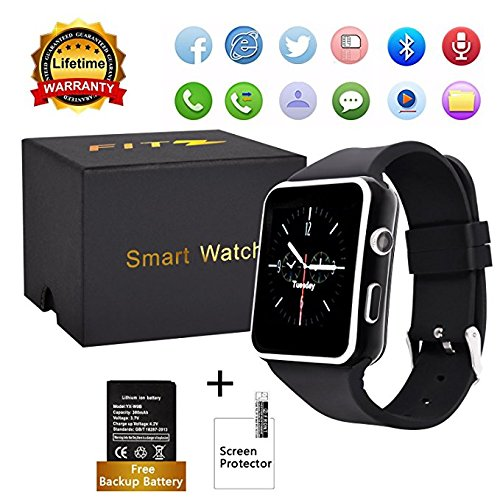 Amazon.com: Upgraded Bluetooth Smart Watch for Apple Iphone ...
