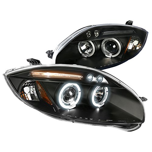 Spec-D Tuning 2LHP-ELP06JM-TM Black Projector Headlight (Halo Led) ()