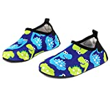 Qevellya Water Swim Shoes Slip on Barefoot Aqua Socks Shoes for Beach Pool Surfing Kids Boys Girls Toddler