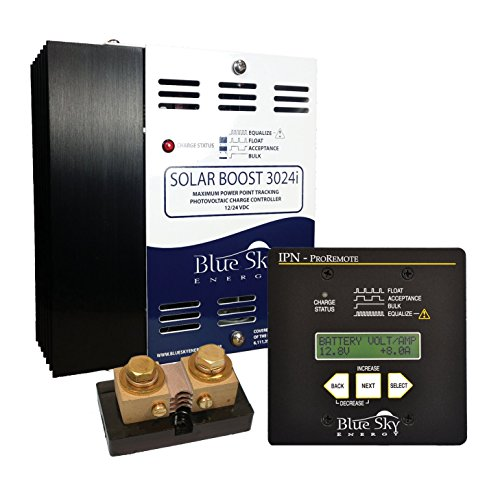 Blue Sky SB3024iL MPPT Charge Controller and IPN ProRemote Display with a Current Shunt, SB-RVK-S