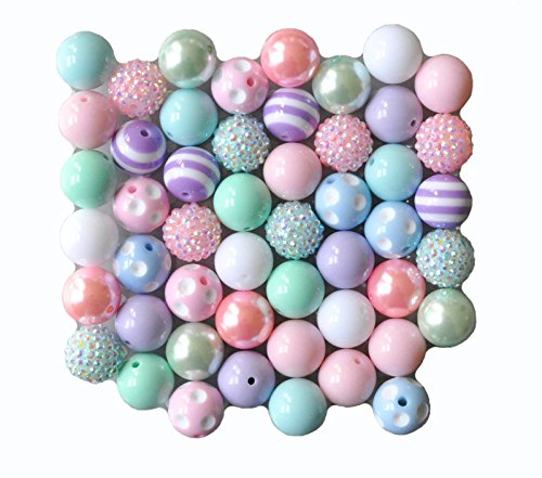 Pastel Easter 20mm Bubblegum Bead 50 Piece Bulk