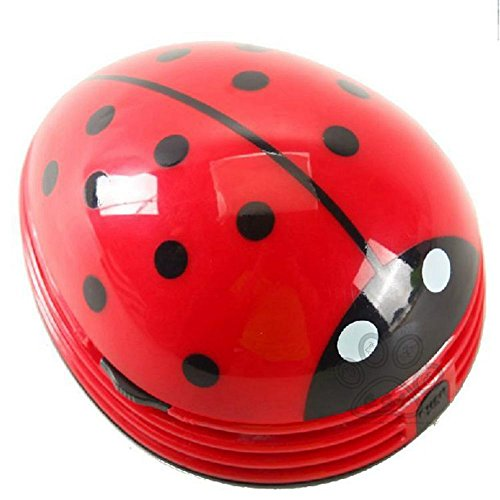 [JAROWN Mini Ladybug Shaped Vacuum Desktop Coffee Table Cleaner Dust Collector for Office Table] (Ladybug Soft Costumes)