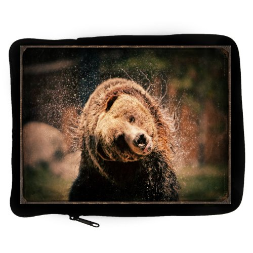 iPad Photo Zipper Case Fine Art Yellowstone Grizzly Bear