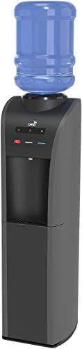 Aquarius Top Load Water Cooler – Black – Dispenses Hot, Cold and Room Temp Water from a single dispense point