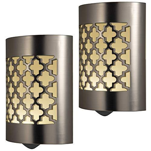 GE 11332 LED CoverLite, Celtic Design, Oil Rubbed Bronze Finish, Plug-in Night, Light Sensing, Dusk to Dawn Sensor
