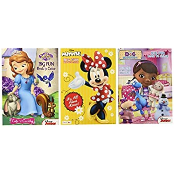 this item disney coloring and activity book assortment minnie mouse princess sofia doc mcstuffins 3 books 96 pgs each - Disney Princess Art And Activity Collection