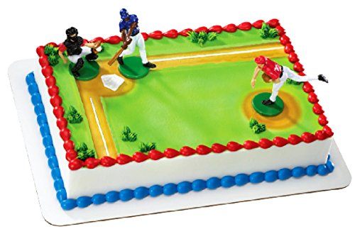- Baseball Cake Topper for Birthday Baby Shower Wedding Theme Decorations. Big League Player Figurines with Bats Mitt Jerseys Outfits for Boys