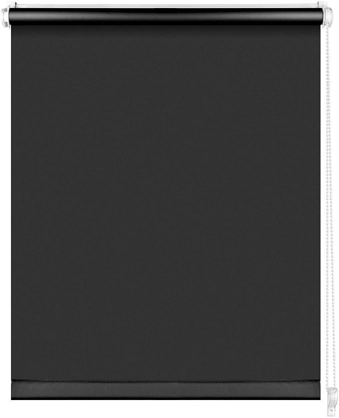 Estor de Opaco Blackout Blind Silver Coating Opaque Protecci/ón de Pantalla para Ventanas y Puertas S SIENOC Klemmfix Estor Opaco para Ventana Estor Enrollable//Thermo Blanco, 65x150 cm