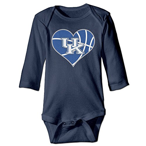 Price comparison product image ElishaJ University Of Kentucky Babys Unisex Long Sleeve Jumpsuit Outfits Navy Size 18 Months
