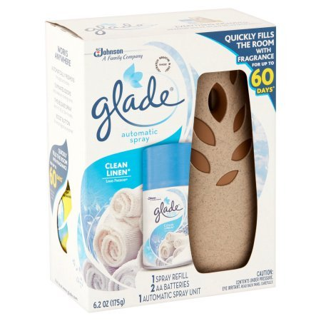 Pack of 4 - Glade Automatic Spray Air Freshener Starter Kit, Clean Linen, 6.2 Fluid oz, Blue by Glade (Image #3)
