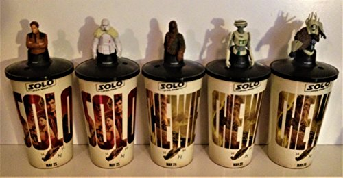 Star Wars: Solo Movie Theater Exclusive Cup Topper Set #1 With 44 oz Cups