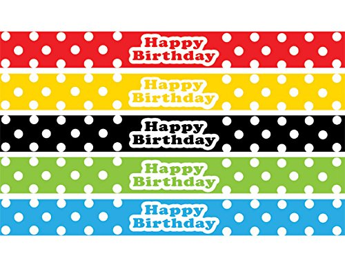 Teacher Created Resources Polka Dots Happy Birthday Slap Bracelets (20665) ()