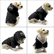 "Dog Cold Weather Coats Dogs Clothes - Fleece Lined Parka Sports Dogs Jacket Windproof Lightweight Pet Winter Coat - Beirui Warm Dog Apparel for Small Medium and Large Dogs,Back for 13.5"",Black"