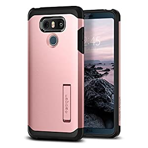 Spigen Tough Armor LG G6 Case / G6 Plus Case with Reinforced Kickstand and Heavy Duty Protection and Air Cushion Technology for LG G6 (2017) / LG G6 Plus - Rose Gold