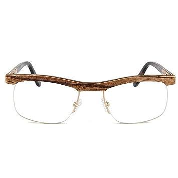 Gafas Semi-sin Montura de Madera Hechas a Mano Hombres Gafas ...