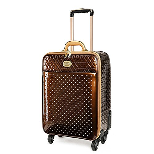 (Verona H & L New Women's Shiny Twinkle Star Vegan Leather Carry-On Bronze)