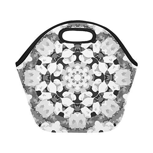 Insulated Neoprene Lunch Bag Mandala Calming Coloring Page