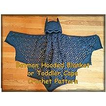 UK Batman Hooded Blanket or Toddler Cape Crochet Pattern