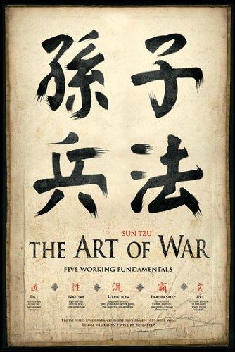 Sun Tzu - The Art of War - Five Working Fundamentals Art Print Poster by Studio B