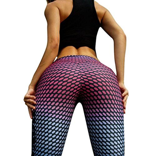 GBSELL Fashion Women Camouflage Dot Printed Yoga Workout Sport Leggings Pants (Multicolor Dot, S)