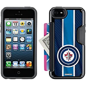 Coveroo Winnipeg Jets Jersey Stripe Design Phone Case for iPhone 5s/5 - Retail Packaging - Black