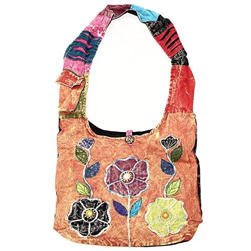 Bohemian Hippie Crossbody Shoulder Bag Sling Cotton Handmade (2049)