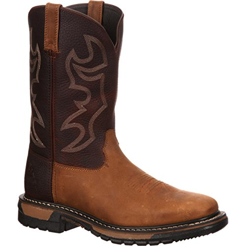 Rocky Men's RKYW037 Boot, Crazy Horse and Bridle Brown, 9.5 W US image