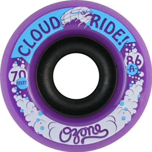 Cloud Ride! Ozone 70mm 86a Purple Longboard Wheels (Set Of 4) Straight Centerset