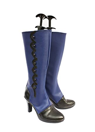 Black Butler Kuroshitsuji Ciel Blue Ver Cosplay Shoes Boots Custom Made