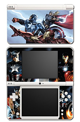 Avengers 2 Movie Iron Man Thor Captain America Hulk 3 Age of Ultron Thanos Video Game Vinyl Decal Skin Sticker Cover for Nintendo DSi XL System