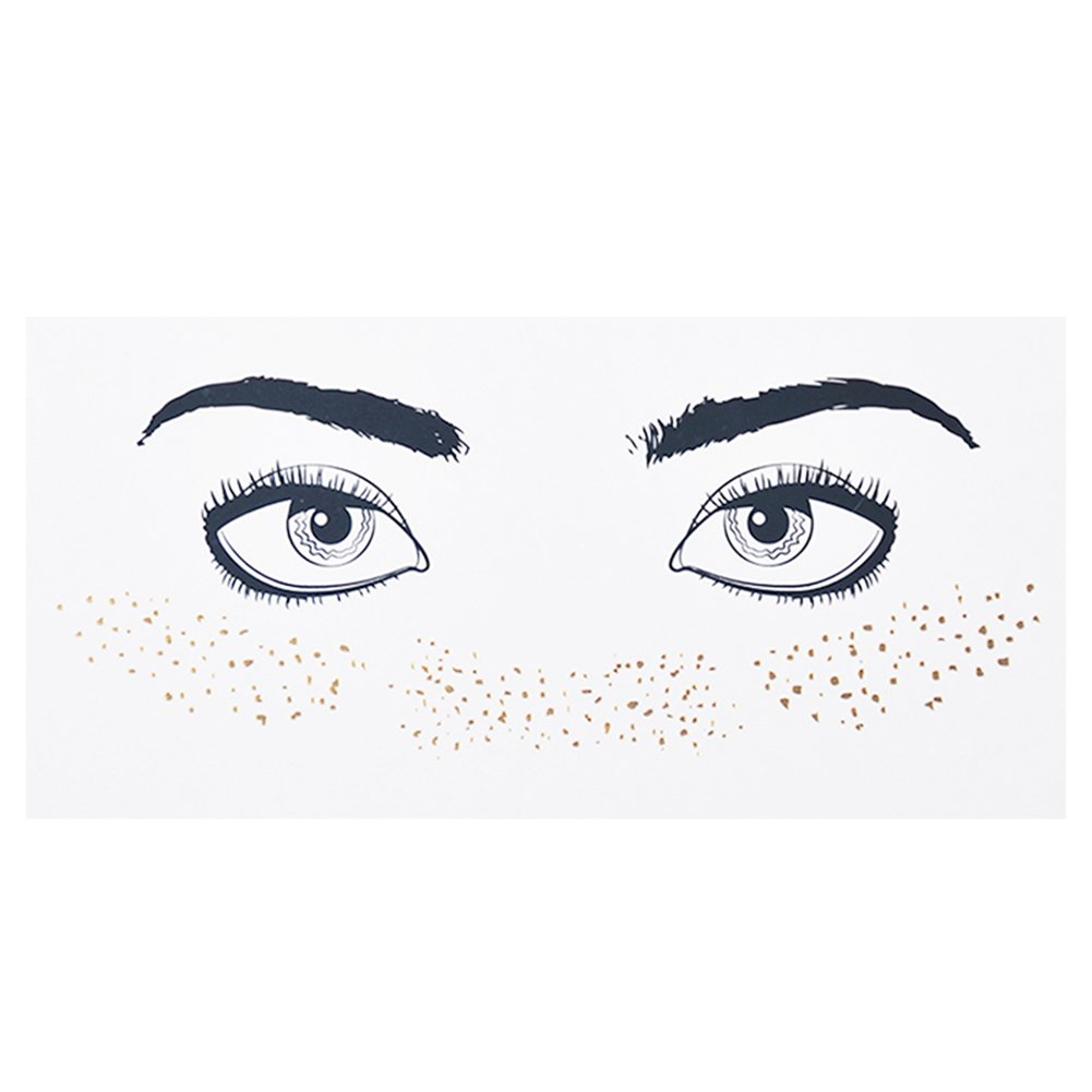 Gracefulvara Fashionable Personalized Freckles Temporary Face Stickers F17