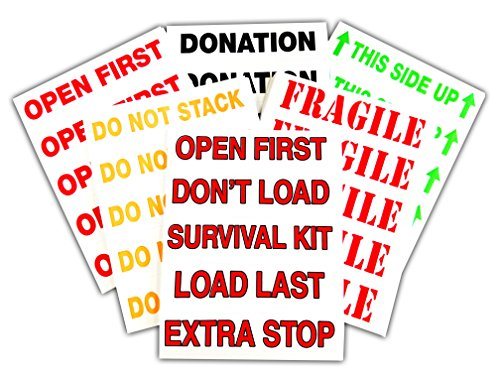 Tag-A-Room Alert Label, Color Coded Moving Supplies, 225 Pack