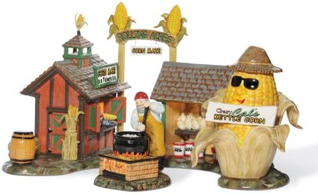 Department 56 Snow Village Rolling Acres Corn Maze Accessory Figurine Set of 2