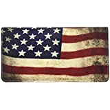 Snaptotes Patriotic Flag Checkbook Cover One Size Red Blue White