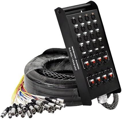 Seismic Audio – saxq-16 X 8 X 50 – 50 de 16 canales XLR Cable de serpiente con XLR y 1/4