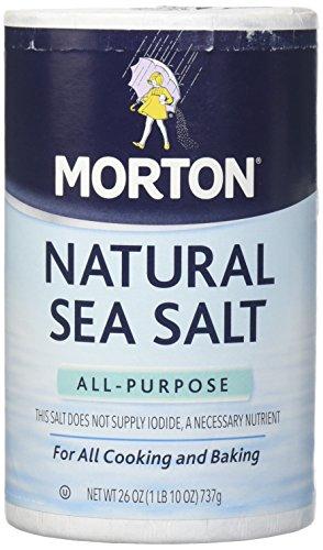 Morton Salt Natural Sea Salt - 26 oz