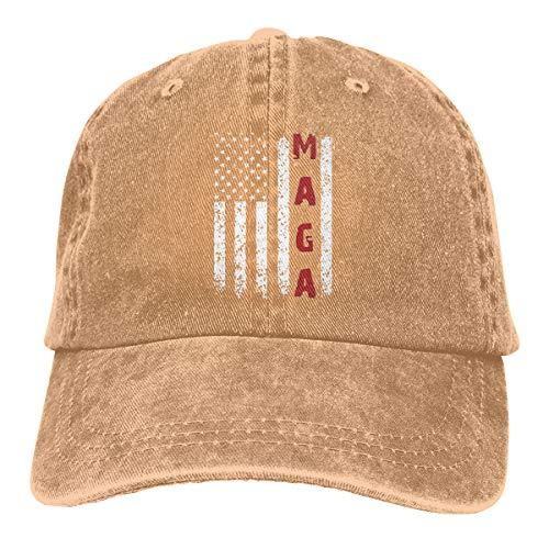 - Unisex Make America Great Again MAGA Vintage Adjustable Baseball Cap Denim Dad Hat