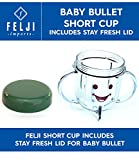 baby bullet short cup - Felji Short Cup Includes Stay Fresh Lid for Baby Bullet