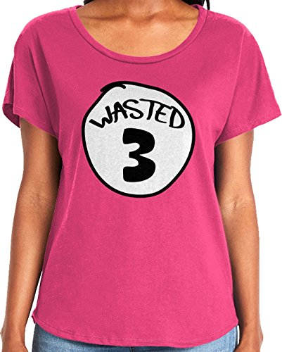Amdesco Ladies Wasted 3 Dolman T-Shirt, Hot Pink Small]()