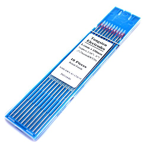 Wolfram 1.6 * 150 Thorium Tungsten Electrode Head Tungsten Rod Needle/Wire For Tig WSME Super Welding Machine (10 Pcs, Red) Price & Reviews