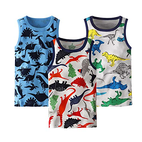 HUAER& Toddler Boys' 2-3 Pack Tank Tops (2T (Height 90cm), -