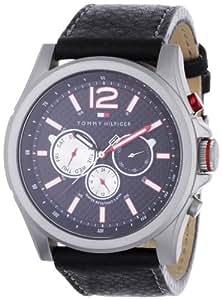 Tommy Hilfiger 1790729 - Reloj de caballero de cuarzo, correa de piel color negro