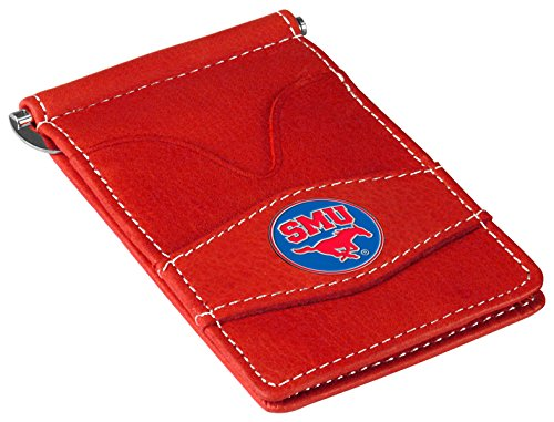 (NCAA Southern Methodist University Mustangs Players Wallet - Red)