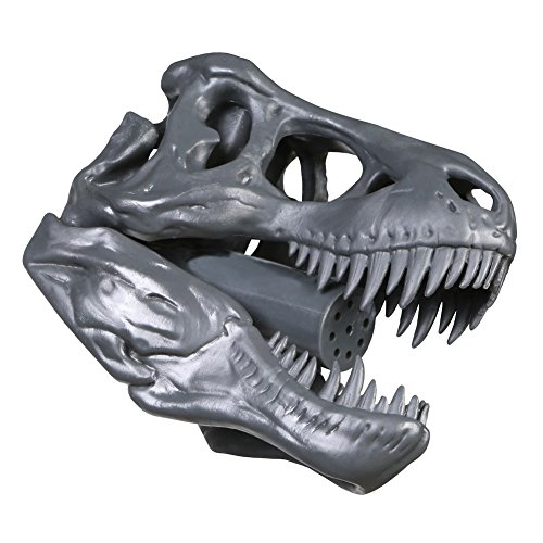 Barbuzzo T-Rex Shower Head, Gray - Prehistoric Shower Nozzle Shaped like a Tyrannosaurus Rex Skull - Gives Your Shower-Time a Jurassic Touch - Terrific Gift for Kids & Dino-Enthusiasts - Wash N' Roar (Tyrannosaurus Rex Skull)
