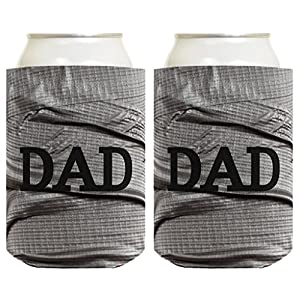 Father's Day Gift for Dad or Grandpa Funny Duct Tape Pattern 2 Pack Can Coolie Drink Coolers Coolies Duct Tape